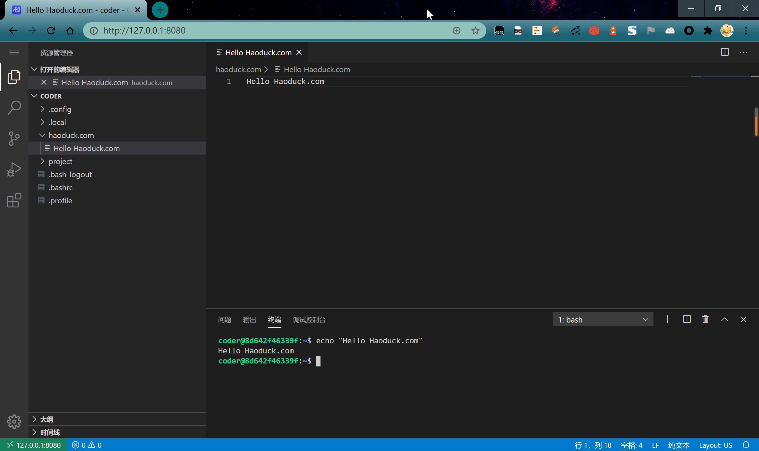 Dokcer部署一个Visual Studio Online同款Web版VS Code——code-server插图