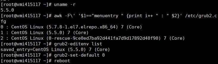 Linux更新BBR内核并切换启动内核