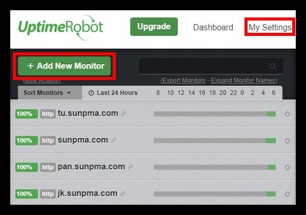 搭建一个简单的网站运行状态监控页面